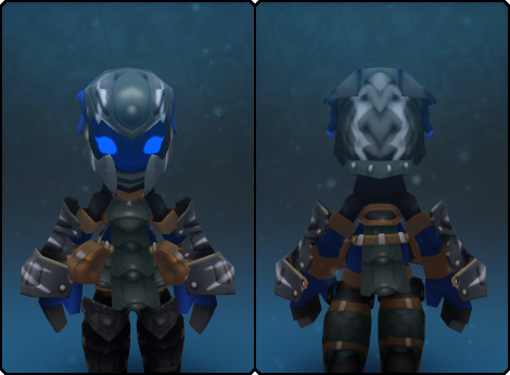 Iron Dragon Helm in its set