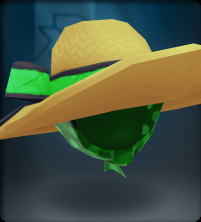 Tech Green Straw Floppy Beach Hat