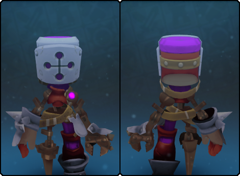 Heavy Mecha Helm in its set