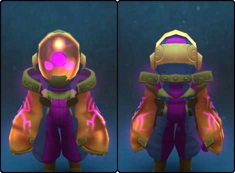 Regal Node Slime Mask in its set