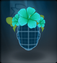 Tech Blue Hibiscus Crown