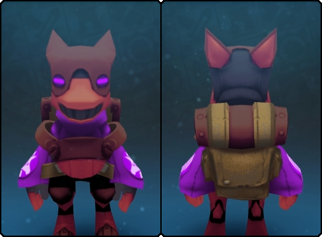 Volcanic Gremlin Suit in its set