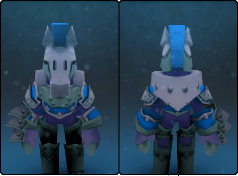 Dusky Warden Helm in its set