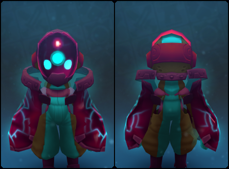Ruby Node Slime Mask in its set