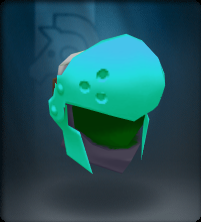 Tech Blue Round Helm