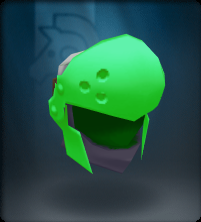 Tech Green Round Helm