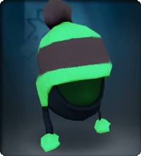 ShadowTech Green Pompom Snow Hat-Equipped.png