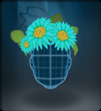 Tech Blue Daisy Crown