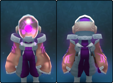 Divine Node Slime Mask in its set