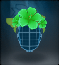 Tech Green Hibiscus Crown