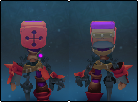Toasty Mecha Helm in its set