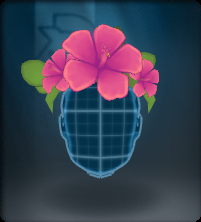 Tech Pink Hibiscus Crown