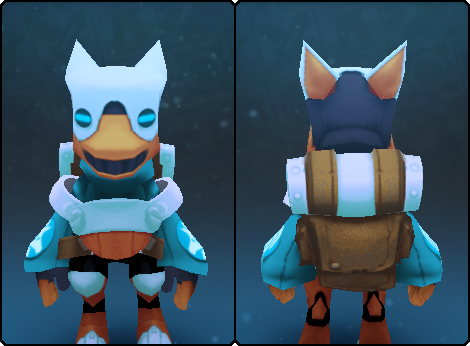 Glacial Gremlin Suit in its set