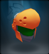 Tech Orange Round Helm