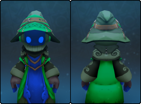Emerald Stranger Robe in its set