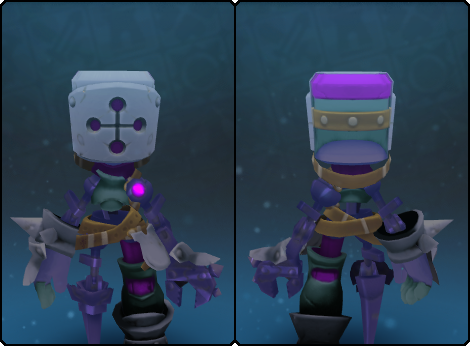 Dusky Mecha Helm in its set