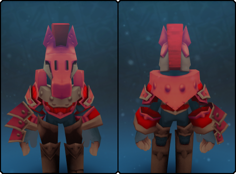 Toasty Warden Helm in its set