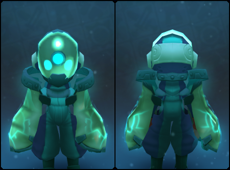 Turquoise Node Slime Mask in its set