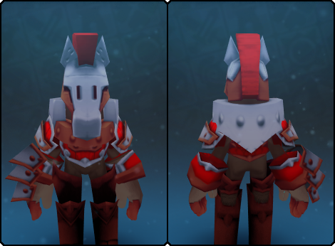 Heavy Warden Helm in its set