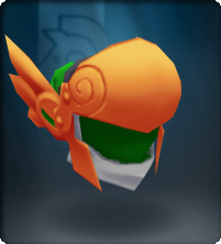Tech Orange Winged Helm
