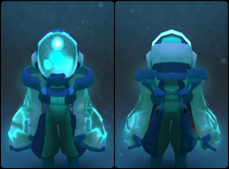 Sapphire Node Slime Mask in its set