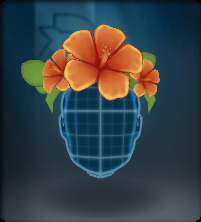 Tech Orange Hibiscus Crown