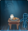 A stylish antique table with a plate of cookies set out for Impostoclaus.