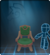 Furniture-Green Antique Chair.png
